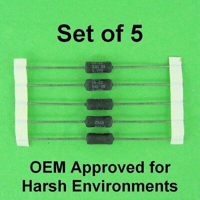 33 Ohm 3.25 Watt 5 Dale Wirewound Power Resistor Oem Approved 3w Set Of 5
