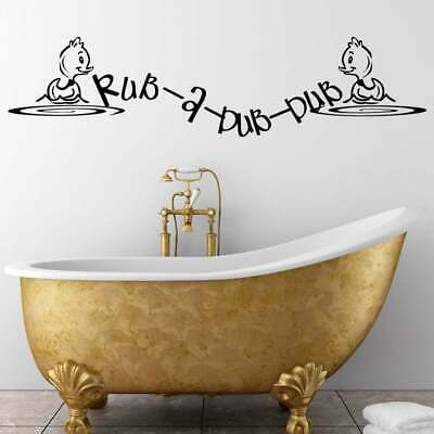 Rub A Dub Duck Bathroom Wall Sticker Decal Transfer Home Design Matt Vinyl -