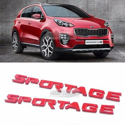 Side Front Trunk Mini Emblem Point Logo Badge Red for KIA 2017-2020 Sportage QL