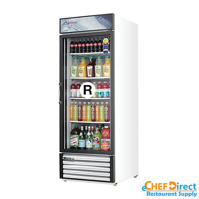 Everest Emgr24 28 Single Glass Door Merchandiser Refrigerator Swing Door