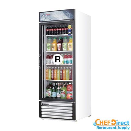 """Everest Emgr24 28"""" Single Glass Door Merchandiser Refrigerator (swing Door)"""