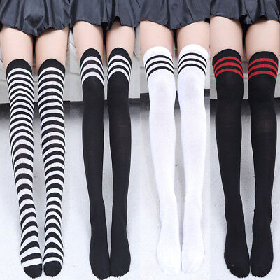 Women's Cotton Sexy Thigh High Over The Knee Socks Long Stockings DIY For Girls - Diy Stockings