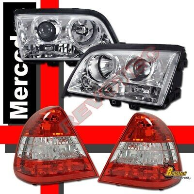 1994-2000 Mercedes Benz W202 C Class Sedan Projector Headlights + Tail Lights 1998 Mercedes Benz C230 Sedan