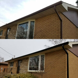 Seamless Eavestroughs / Cleaning + T-Rex Gutter Guards / Repair