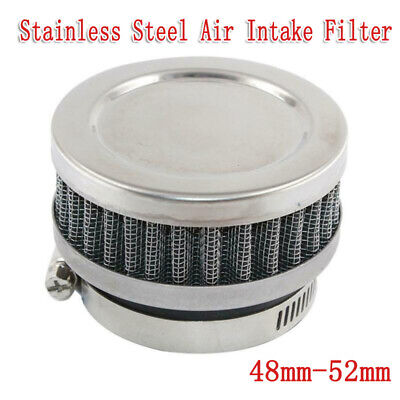 Motorcycle Air Filter Clamp Intake Cleaner For 48mm-52mm Dirt Bike Scooter Kart