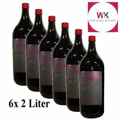 Imiglykos griechischer Rotwein 6x 2l halbsüß Kintonis Ouranos