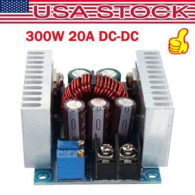 300w 20a Dc-dc Converter Step Down Buck- Boost Power Adjustable Charger Usmp