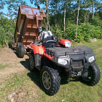 Low mileage ATV with or without dump trailer