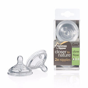 6 Tommee Tippee slow flow nipples 0m+ for $10 NEVER BEEN USED