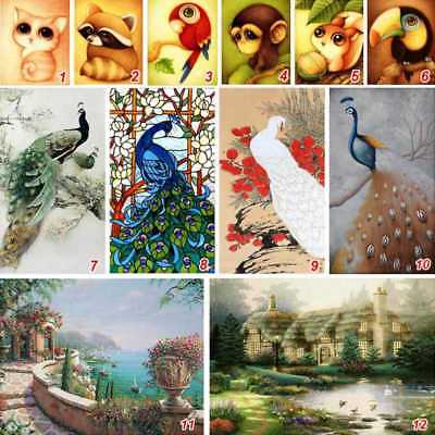 Home Decor Kit (5D Diamond Painting Animal Monkey Cat Embroidery Cross Stitch Kit Home Decor DIY)