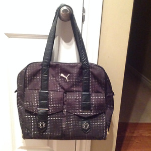 Puma black and grey dots tote