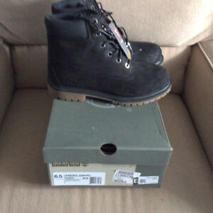 Brand new black Timberland boots size 6.5 $100 price firm