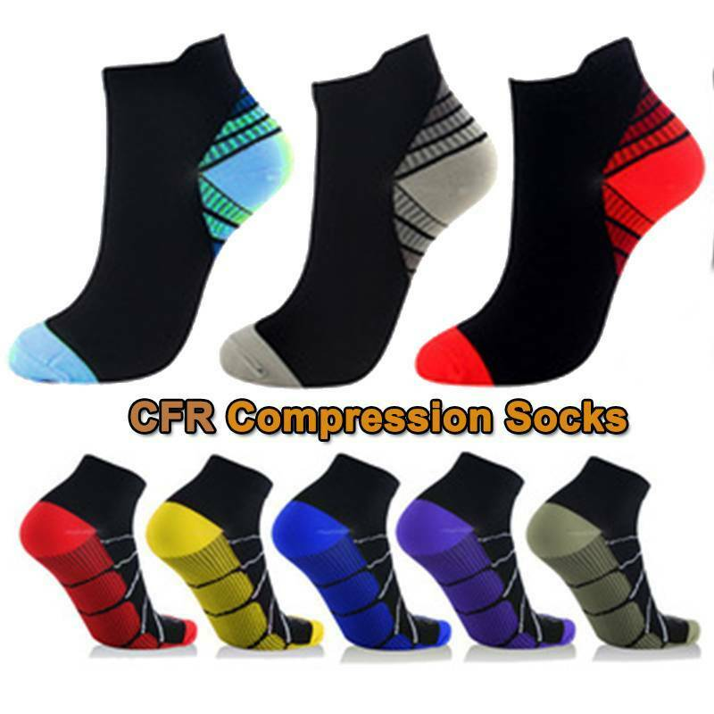 COPPER Compression Socks Ankle Running Arch Support Brace Sl