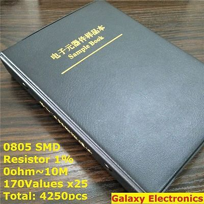 0805 1 Smd Smt Chip Resistors Assortment Kit 170values X25 Assorted Sample Book