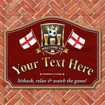 Personalised Home Bar Sign England Football,St Georges Flag Pub Drinking sign