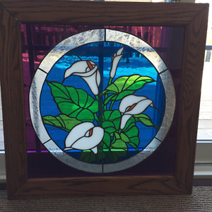 Calla Lily Stained Glass Panel