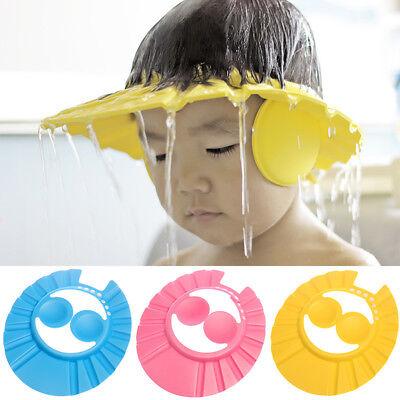 Soft&Safe Baby Kids Child Shampoo Bathing Shower Protect Ear Cap Hat Hair Shield