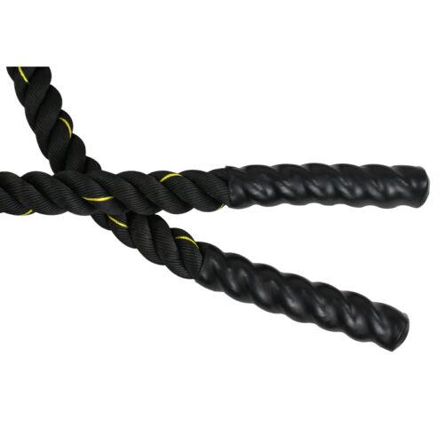 40 FT x 1.5″ Fitness Training Workout Beginner Battle Rope Strength Training Fitness, Running & Yoga