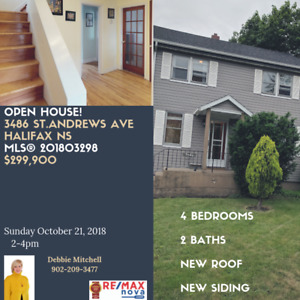 4 bedroom + lower level, hot tub, 3486 St.Andrews Ave, Halifax