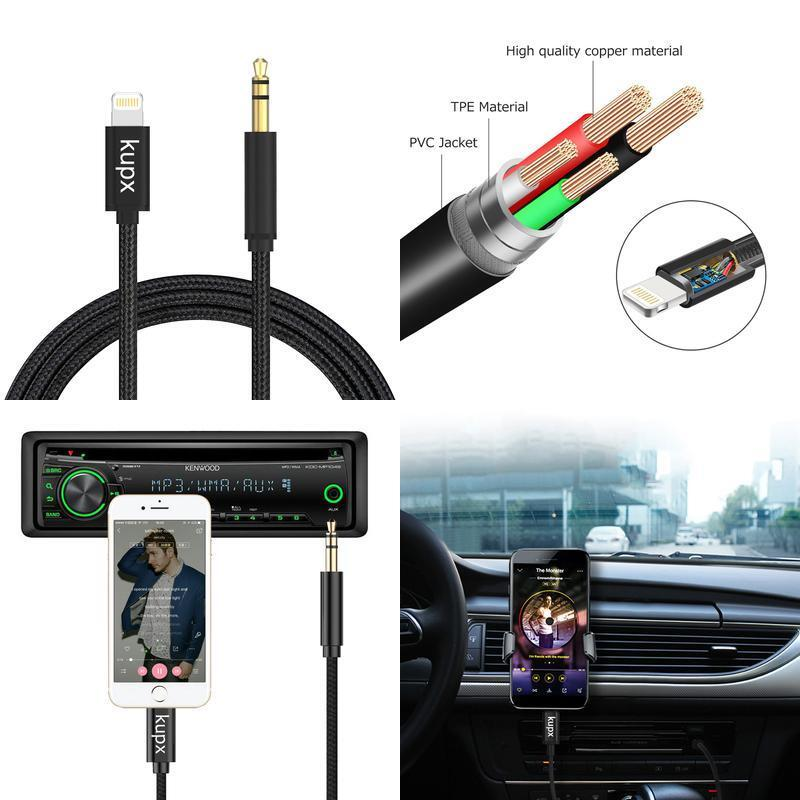 Lightning to 3.5 mm Headphone Jack Adapter Male Aux Stereo A