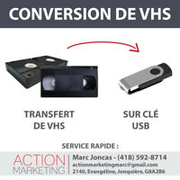 Conversion de VHS sur clé USB