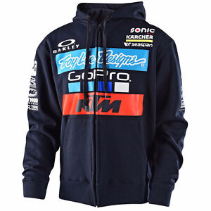 Troy Lee KTM Lucas Oil Motocross Racing Zip Up Hoody Brand New