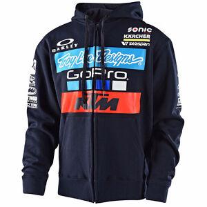 Troy Lee KTM Lucas Oil Motocross Racing Zip Up Hoody Brand New