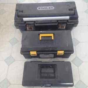 3 TOOL BOXES....30$. STANLEY TOOL BOX INC.