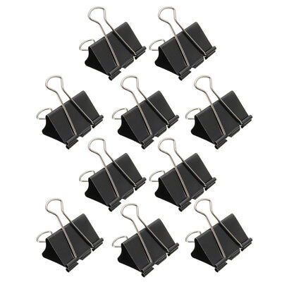 12x Foldback Clips 51mm Fold Back Paper Binder Clips Bulldog Clips Metal Clip