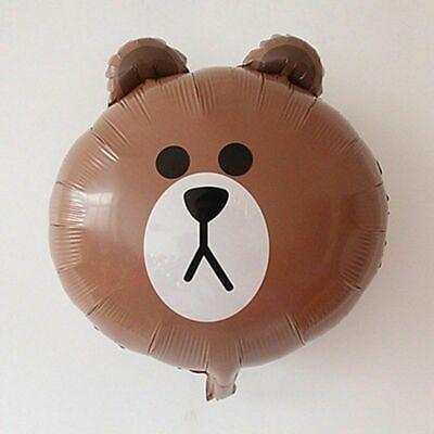 45.7cm Braun Bär-kopf Folienballons Ostern Partydekorationen Folienballons Bär