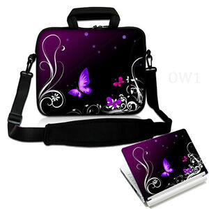 BUTTERFLY Laptop Sleeve Strap Messenger Bag Case 15