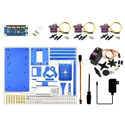 4-dof Robotic Arm Kit For Raspberry Pi Bluetooth Wifi Remote Control Unfinished