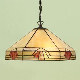 4 Tiffany Ceiling Lights (2 x pendant, 2 x inverted)