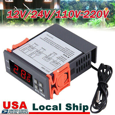 Pro 1224110-220v Digital Temperature Controller Stc-1000 Pid Thermostat Ntc