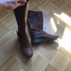 Steve Madden fall leather boots