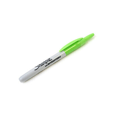 Pack Of 12 Sanford Sharpie Retractable Permanent Markers Fine Point Lime