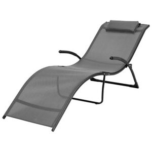 CorLiving Riverside Reclining Lounger - Silver Grey New in Box