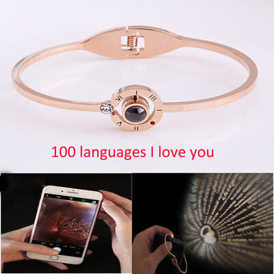 100 Languages- I Love You Bracelet Best Gift For Girlfriend Mom