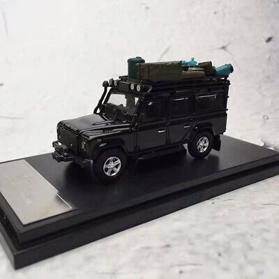 New 1/64 Master Brand Land Rover Defender 110 diecast car model gloss black