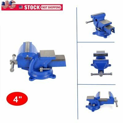 4 Heavy Duty Work Bench Vice Engineer Jaw Swivel Base Workshop Vise Clamp
