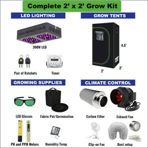 2' X 2' COMPLETE Grow Kit for Cannabis & Vegetables GrOh Canada