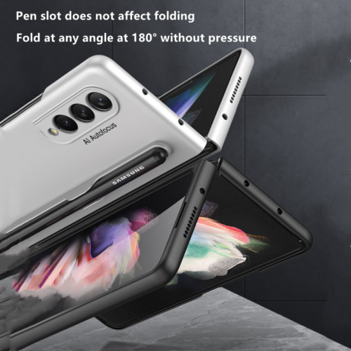 For Samsung GaLaxy Z Fold 3 5G With S Pen Holder Slim Hard PC Matte Case Cover - $12.99