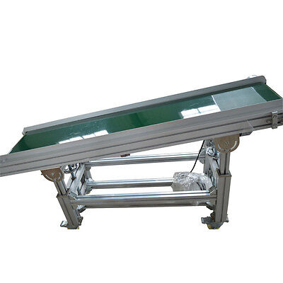 Pvc Inclined Wall Conveyor Belt 110v Powered Rubber Belt 59x 11.8 Best Price