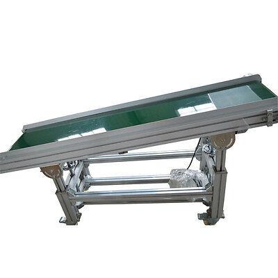 Pvc Inclined Wall Conveyor Belt 110v Powered Rubber Belt 59x 11.8 Best Price