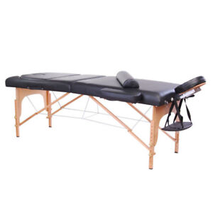 "4"" Extra Thick Massage Spa Table Bed 3-Section Adjustable Table"