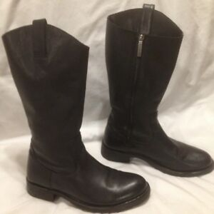 Ladies Authentic Harley Davidson Black Leather Motorcycle Boots