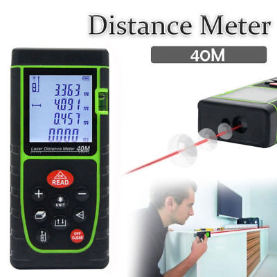 40m131ft1575in Digital Laser Point Distance Meter Range Finder Measure Tape Us