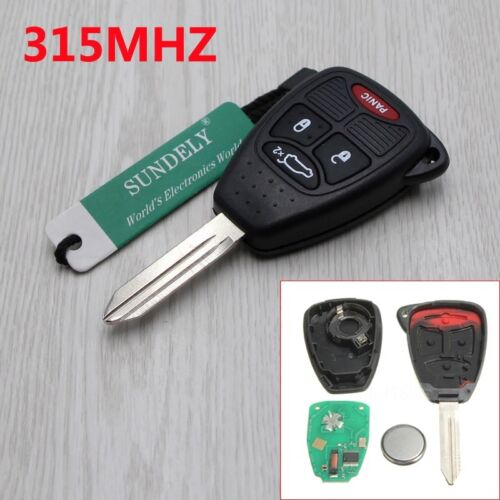 2 New Uncut Replacement Keyless Entry Remote 4 button Fob Transmitter for DODGE
