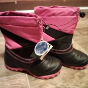 REDUCED $20.  New With Tags! Girls Lined Winter Boots St. John's Newfoundland image 1