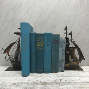 ***  Turquoise Vintage Books for Home Decor  ***